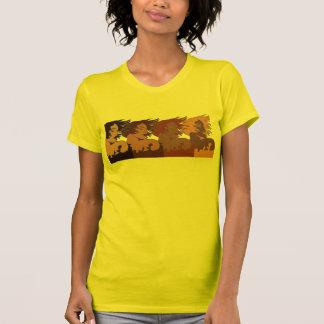 Mulheres étnicas no t-shirt do vento