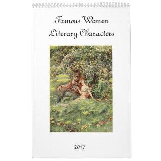 Mulheres famosas da literatura calendário