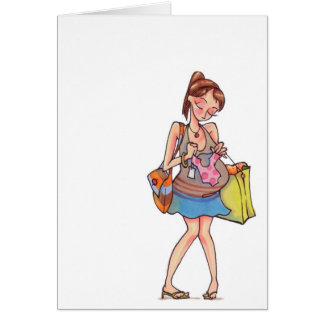 Mulheres gravidas que compram Notecard Cartão De Nota