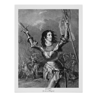 Mulheres históricas - Joana do arco Impressão