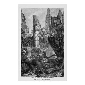 Mulheres históricas - Joana do arco Poster