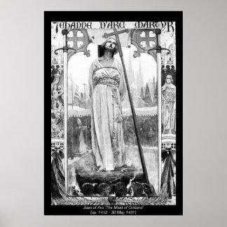 Mulheres históricas - Joana do arco Posters