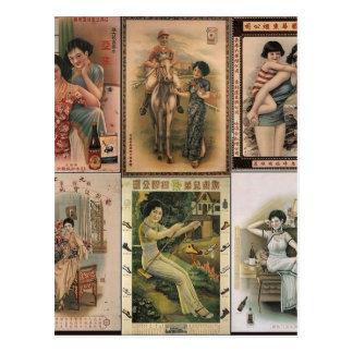 Mulheres idosas do poster de Shanghai Cartão Postal