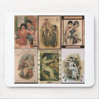 Mulheres idosas do poster de Shanghai Mouse Pad