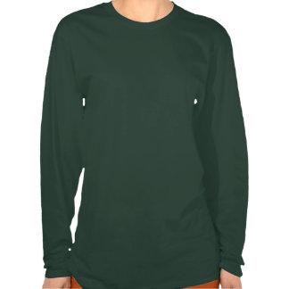 Mulheres longas exteriores asiáticas da luva tshirt