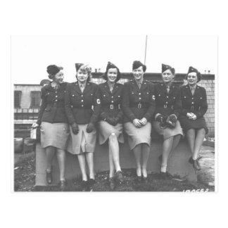 mulheres na fotografia uniforme do mundo war11 cartões postais