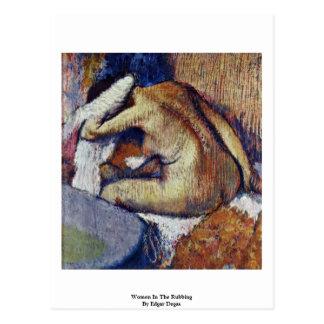 Mulheres na fricção por Edgar Degas Cartões Postais