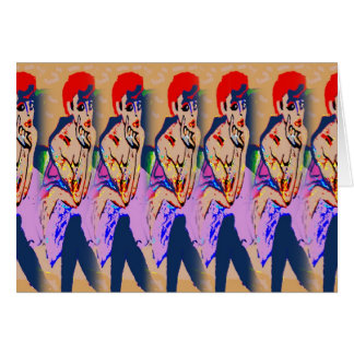 Mulheres no coro do vestido cartão comemorativo