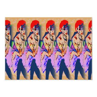 Mulheres no coro do vestido convite 12.7 x 17.78cm