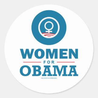 Mulheres para Obama Adesivo Em Formato Redondo
