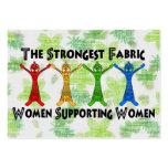 Mulheres que apoiam mulheres modelos cartões de visita