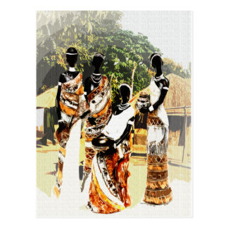Mulheres tribais africanas da vila cartão postal