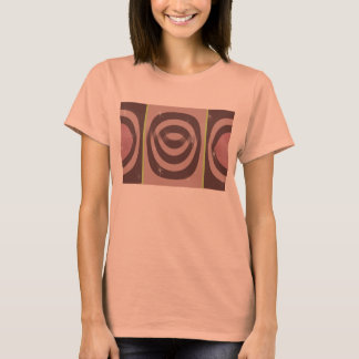 Multa americana do roupa das mulheres MALVA RETROS Camiseta