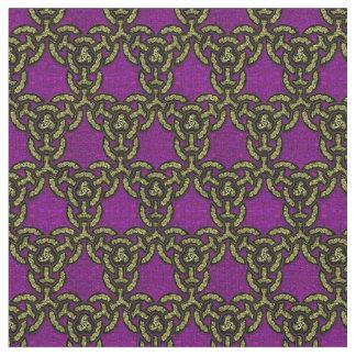 Multa celta da corrente do dragão no roxo real tecido