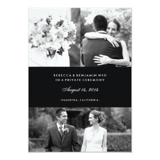 Multi anúncio do casamento da foto no preto convite 12.7 x 17.78cm