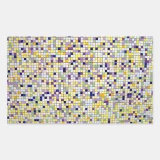 Multi azulejos quadrados pequenos coloridos adesivo em forma retangular
