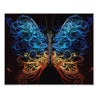 Multi borboleta abstrata da cor foto