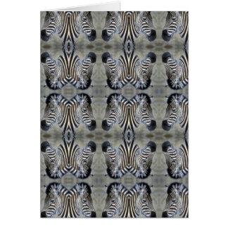 multi cabeça da zebra cartão comemorativo
