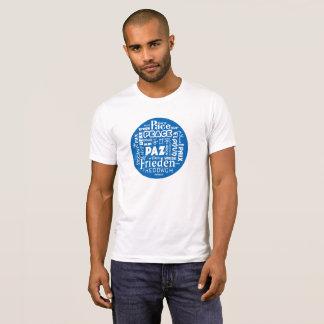Multi camisa azul do pescoço de grupo T do design