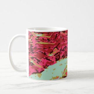 Multi caneca de café do abstrato da cor