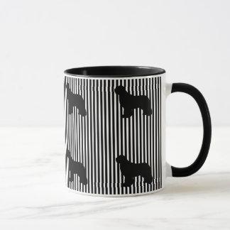 Multi caneca de café preta do cão de Terra Nova