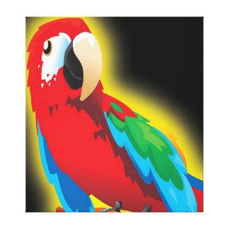 Multi canvas coloridas do papagaio impressão em tela