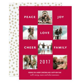Multi cartão alegre e brilhante de PhotoHoliday