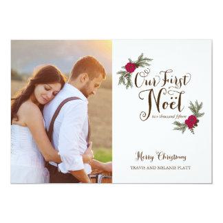 Multi cartão com fotos do primeiro feriado dos convite 12.7 x 17.78cm