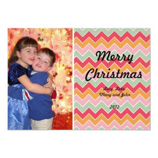 Multi cartão de Natal da foto do teste padrão de Convite 12.7 X 17.78cm