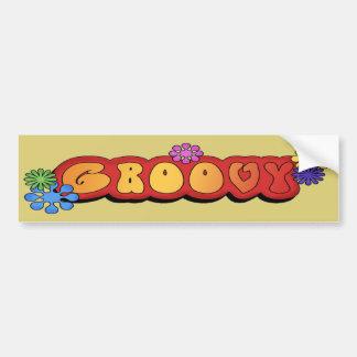 Multi-colorido Groovy Adesivo De Para-choque