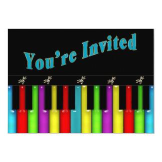 Multi convite da finalidade - música - teclado