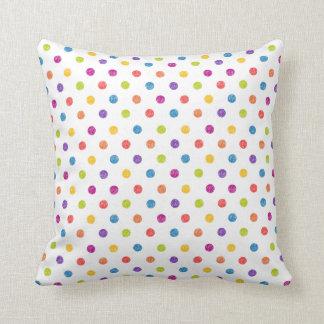 Multi-Cor, bolinhas Pillowl Almofada