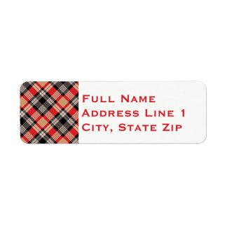 Multi etiqueta de endereço do remetente do feriado