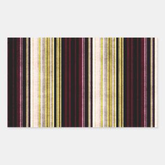Multi etiqueta listrada afligida colorida do adesivos retangular