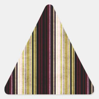 Multi etiqueta listrada afligida colorida do adesivos triângulo