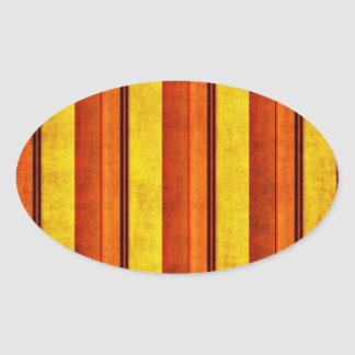 Multi etiqueta oval listrada afligida colorida adesivos oval