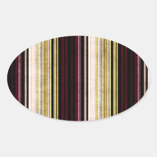 Multi etiqueta oval listrada afligida colorida adesivos ovais
