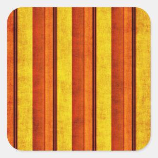 Multi etiqueta quadrada listrada afligida colorida adesivos quadrados
