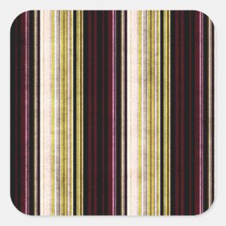 Multi etiqueta quadrada listrada afligida colorida adesivo