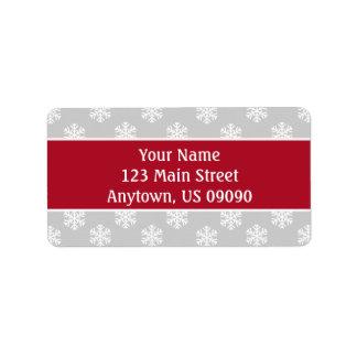 Multi etiquetas de endereço dos flocos de neve