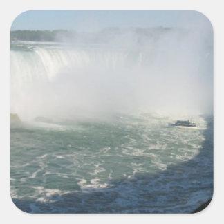 Multi finalidade Escrever-em n Niagara Falls Adesivo Quadrado