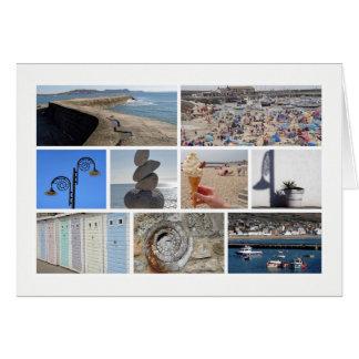 Multi-imagem de Lyme Regis Cartão Comemorativo