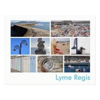 Multi-imagem de Lyme Regis Cartão Postal