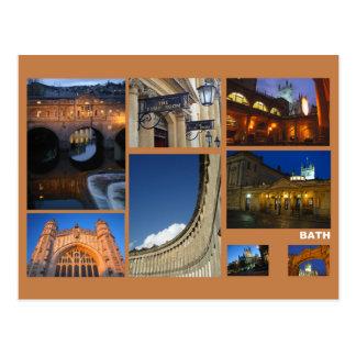 Multi-imagem do banho cartão postal