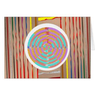 Multi imagem multicolorido CHAKRA: Coleção de arte Cartão Comemorativo