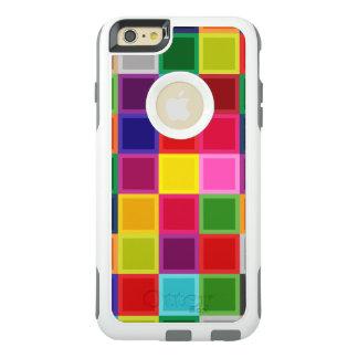 Multi quadrados coloridos femininos