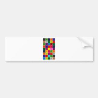 Multi quadrados e listras coloridos femininos adesivo para carro