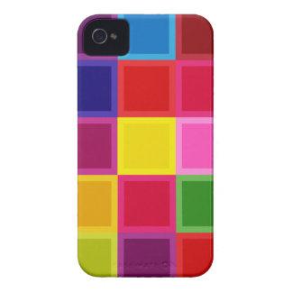 Multi quadrados e listras coloridos femininos capinhas iPhone 4