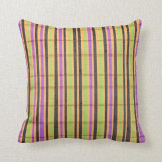 Multi travesseiro listrado colorido almofada