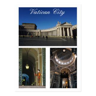 Multi-vista da Cidade do Vaticano Cartão Postal